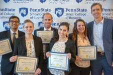 Sustainability case competition winners.